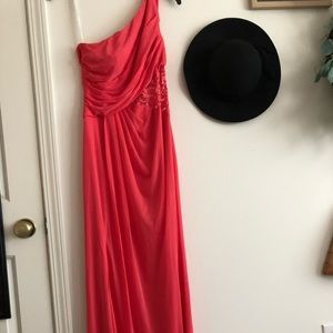 David's Bridal Dresses - Coral Prom Dress